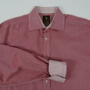 TAILORBYRD Mens Red Large L No Pocket Button Down